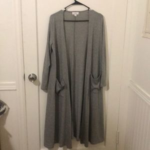 LuLaRoe Gray Duster